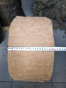 Джут ширина 20 см * длина рулона 20 м (толщина полотна 10 мм)