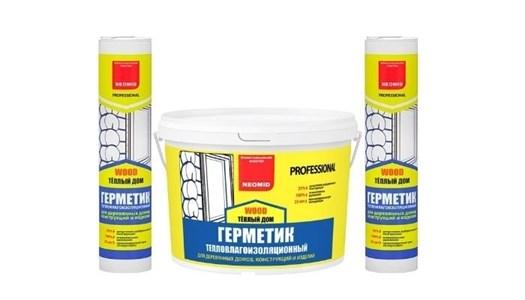 Герметик строительный «NEOMID ТЕПЛЫЙ ДОМ WOOD Professional» - ведро 15 кг